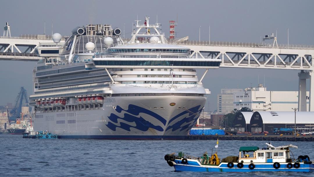 FOTO: Un colombiano en el crucero Diamond Princess es diagnosticado con coronavirus, el 17 de febrero de 2020