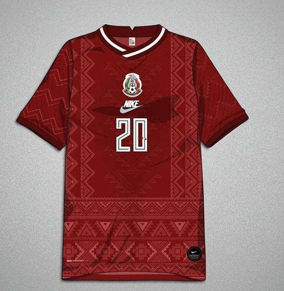 Foto Diseñador fusiona playera de la Selección Mexicana con trajes zapotecas 26 febrero 2020