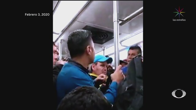Foto: Video Pelea Hombres Estación Metro Cdmx 4 Febrero 2020