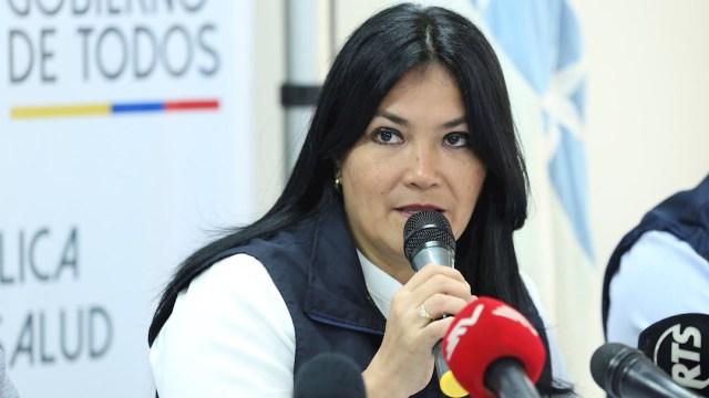 Foto: La ministra de Salud de Ecuador, Catalina Andramuño, anunció el primer caso de coronavirus en el país, 29 febrero 2020