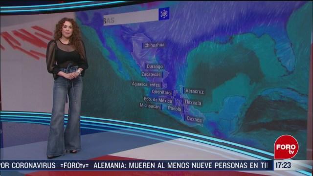 FOTO: el clima con mayte carranco del 20 de febrero del