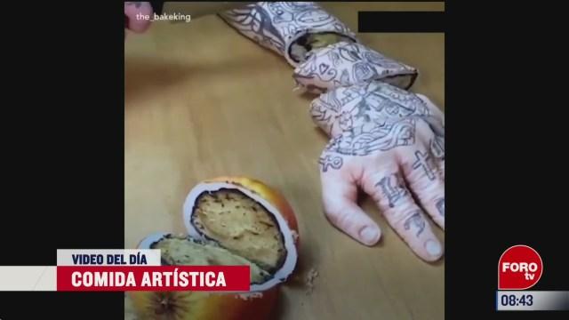 elvideodeldia comida artistica