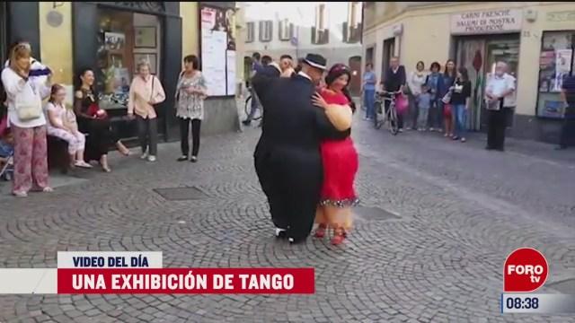 elvideodeldia una exhibicion de tango