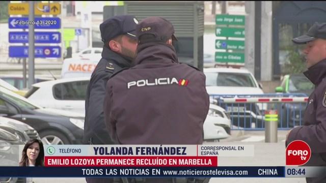 FOTO: 15 Febrero 2020, emilio lozoya permanece en comisaria de marbella