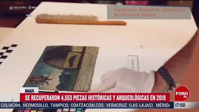FOTO: 2019 inah recupero mas de 4 mil piezas historicas y arqueologicas