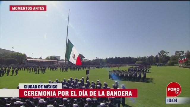 encabeza amlo ceremonia del dia de la bandera