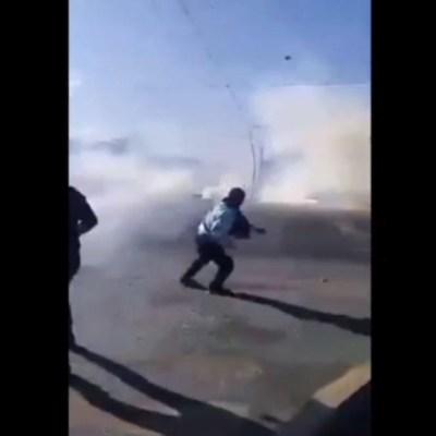 Se enfrentan policías y normalistas en Chiapas; hay al menos 20 heridos