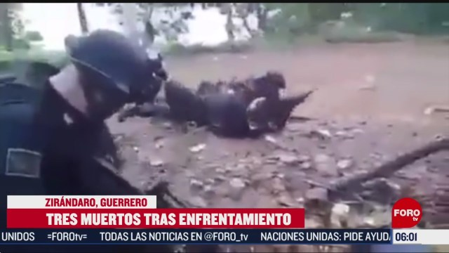 FOTO: enfrentamiento en zirandaro guerrero deja tres muertos