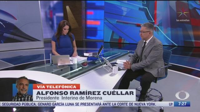 entrevista con alfonso ramirez cuellar por resolucion sobre dirigencia de morena