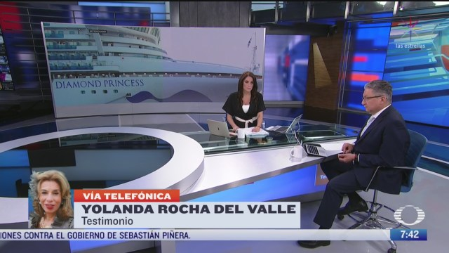 entrevista con mexicana que estuvo en cuarentena en crucero por coronavirus