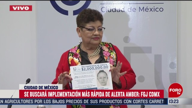 FOTO: ernestina godoy ramos fiscal general de justicia de la cdmx habla del caso de fatima