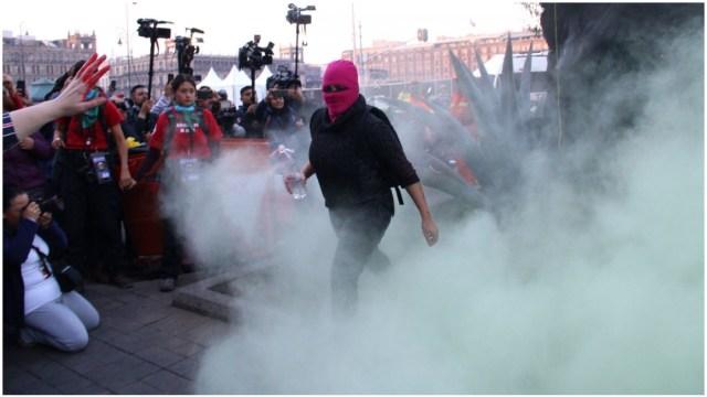 Foto: Investigarán si se hizo mal uso de extintores durante marcha, 15 de febrero de 2020 (Andrea Murcia/Cuartoscuro)