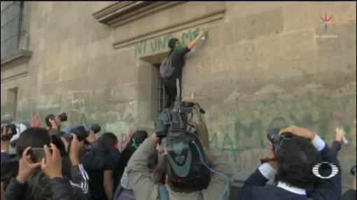 Foto: Feministas Protestan Afuera Palacio Nacional Hoy 18 Febrero 2020