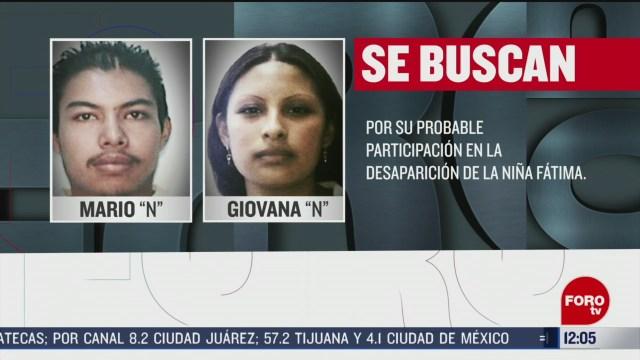 fiscalia cdmx busca a estas 2 personas por feminicidio de fatima