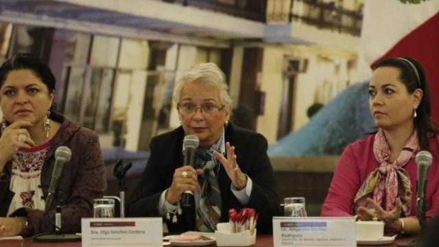 Foto: Olga Sánchez Cordero, titular de la Secretaría de Gobernación (Segob).