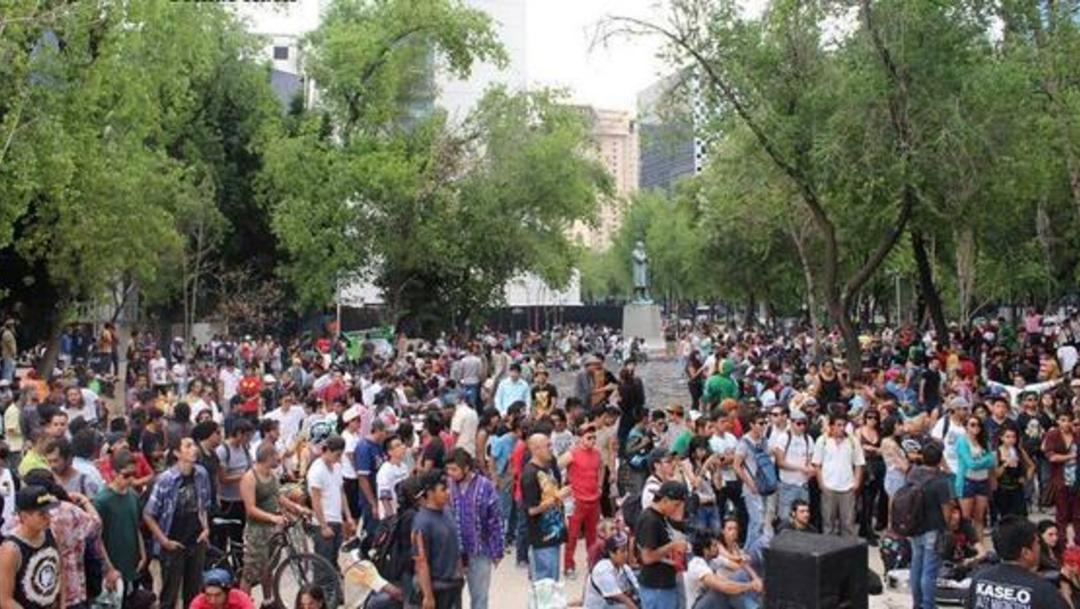 Foto: Concentración de organizaciones sociales en favor de la marihuana, 12 febrero 2020