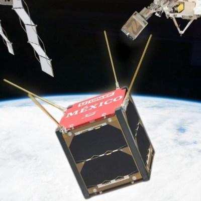 Foto: Nanosatélite mexicano AztechSat-1. NASA