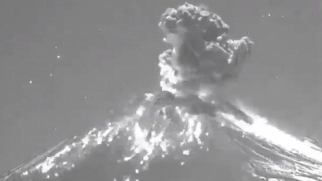 Foto: Volcán Popocatépetl.