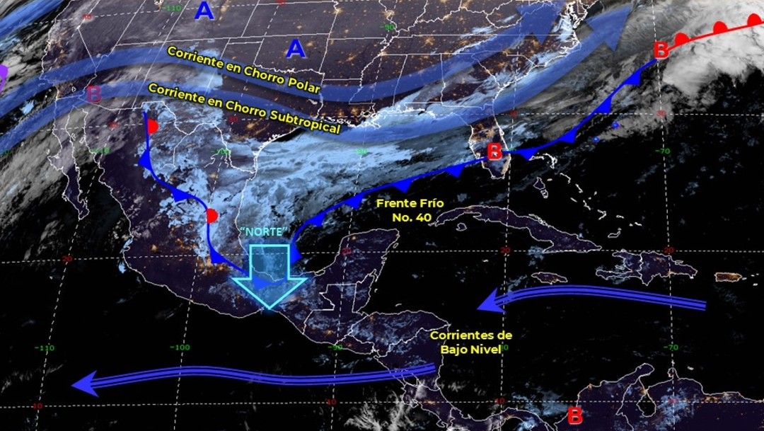 Foto: Frente frío 40 provocará lluvias en el Golfo de México