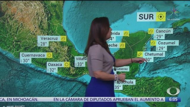 frente frio 40 provocara lluvias en oriente y sureste de mexico