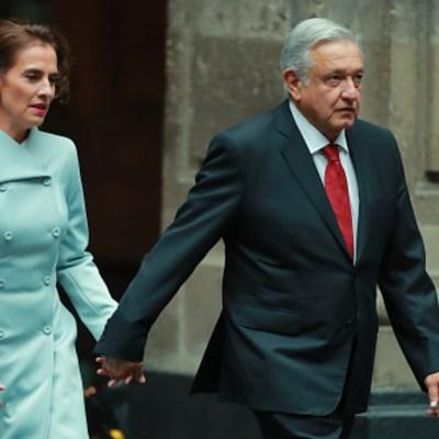 """Foto: Niega AMLO intervenir en decisiones de su esposa, ella """"tiene criterio"""", 15 de febrero de 2020, (Presidencia de la República)"""