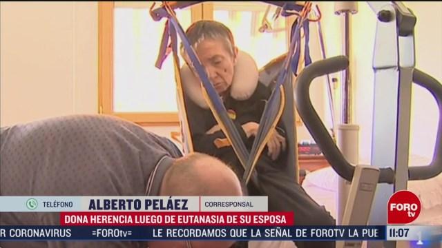 FOTO: 29 febrero 2020, hombre que ayudo a morir a su mujer dona herencia para investigar la esclerosis