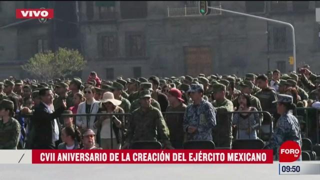 inicia ceremonia conmemorativa de la creacion del ejercito mexicano