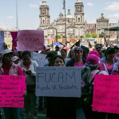 FOTO Insabi seguirá dando tratamiento a mujeres atendidas por Fucam; en la imagen, una protesta del 21 de febrero (Cuartoscuro)