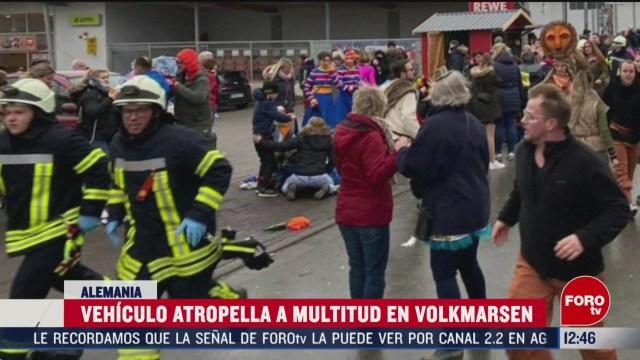intencional atropellamiento que se registro en carnaval de alemania