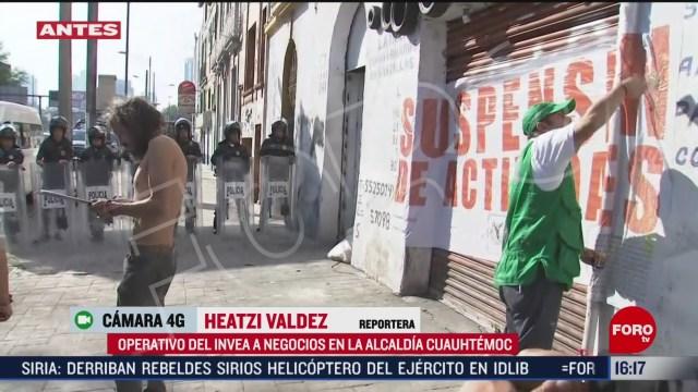 FOTO: invea suspende negocio en alcaldia cuauhtemoc