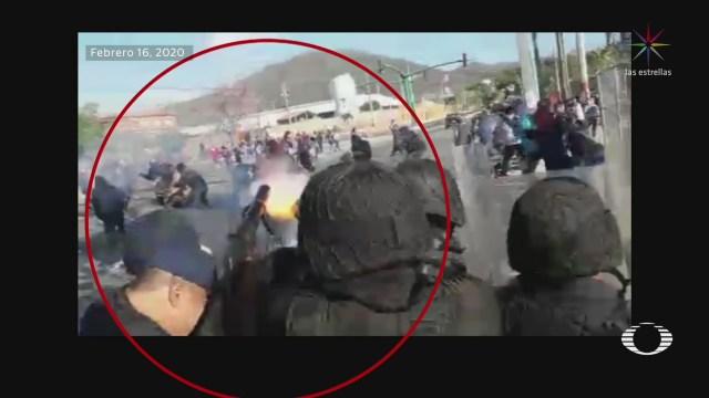 Foto: Investigan Policías Antimotines Chiapas Desalojo Normalistas 18 Febrero 2020