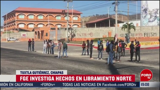 FOTO: 16 Febrero 2020, investigan agresiones contra normalistas en chiapas
