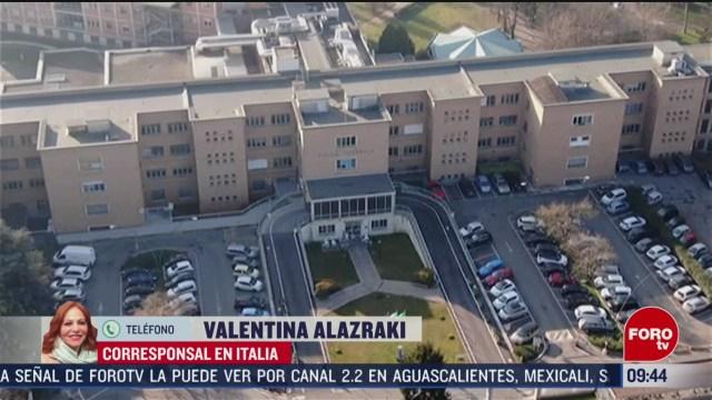 FOTO: 23 Febrero 2020, italia prohibe la entrada y salida en localidades por coronavirus