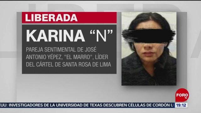 Foto: Liberan Karina Esposa Marro 6 Febrero 2020