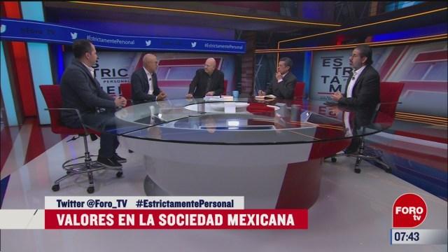 los valores en la sociedad mexicana