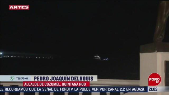 Foto: Mal Clima Impide Crucero Meraviglia Atraque Cozumel 26 Febrero 2020
