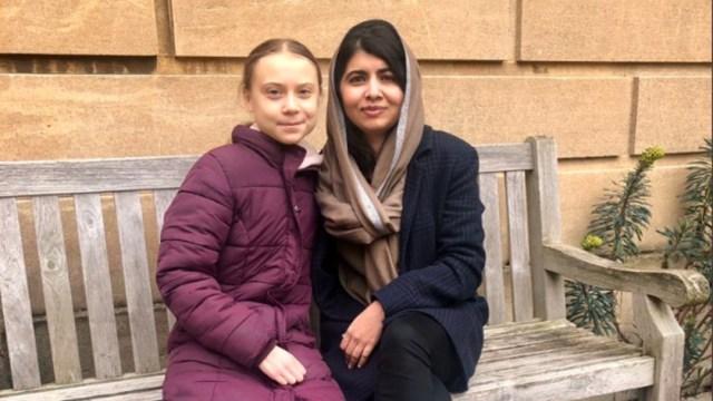 Foto: Malala Yousafzai comparte foto viral con Greta Thunberg