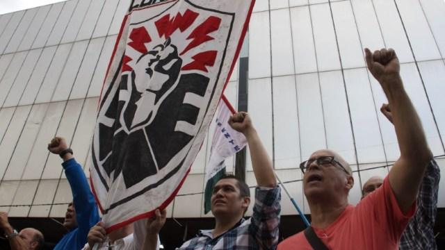 Foto: Integrantes del Sindicato Mexicano de Electricistas se manifestaron en la Ciudad de México, 20 febrero 2020