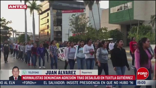 FOTO: 16 Febrero 2020, marchan para protestar por agresiones contra normalistas