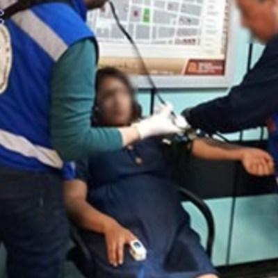 Foto: Policías y socorristas auxiliaron a una mujer en labor de parto dentro del Metro Garibaldi, CDMX, 16 febrero 2020