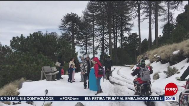 Foto: Miles Disfrutan Nevadas Nevado De Colima 8 Febrero 2020