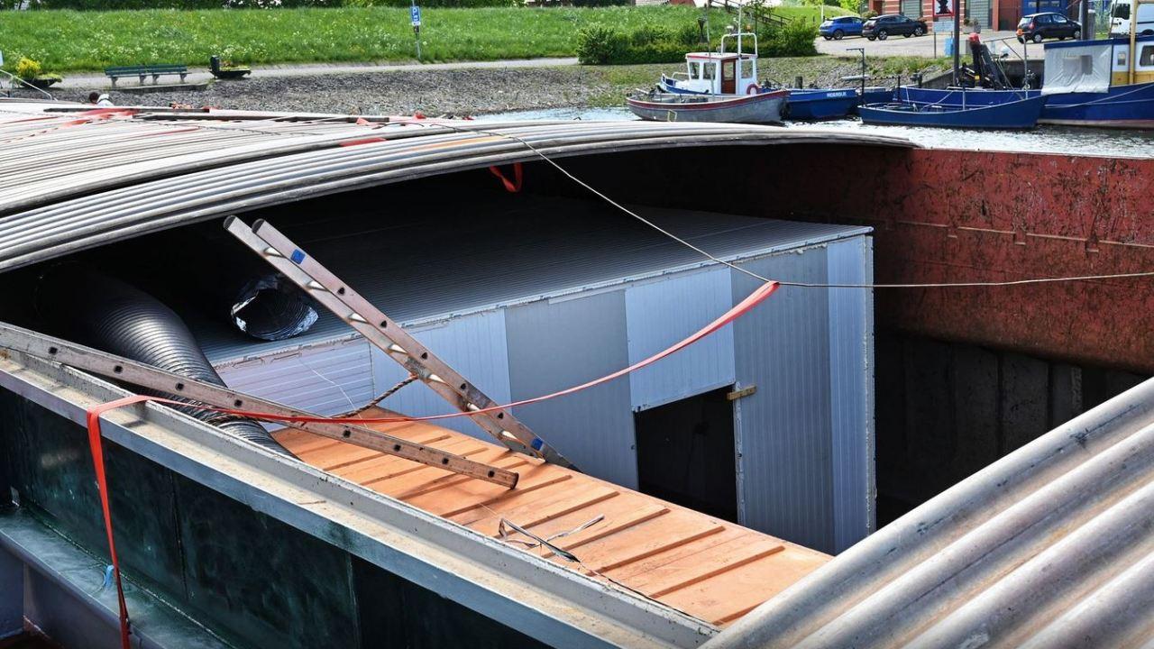 Foto: El narcolaboratorio estaba montado en el interior de una barcaza en Holanda, 14 febrero 2020