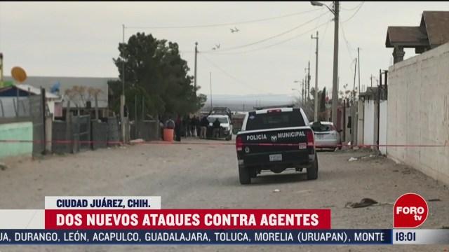 FOTO: 23 Febrero 2020, FOROtv nuevos ataques contra policias en ciudad juarez