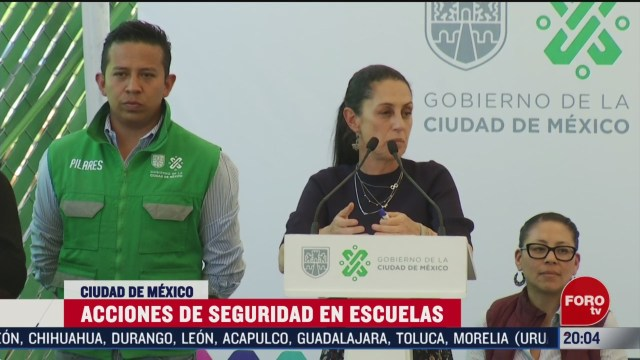 Foto: Nuevos Protocolos Seguridad Escuelas Cdmx Claudia Sheinbaum 24 Febrero 2020