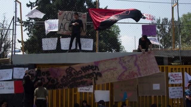 FOTO: Paristas entregan instalaciones de Prepa 5 de la UNAM, el 22 de febrero de 2020