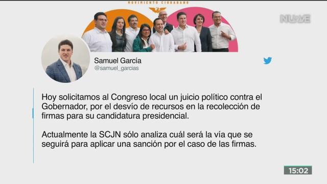 FOTO: presentan solicitud de juicio politico contra jaime rodriguez el bronco