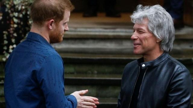 Príncipe Harry se reúne con Jon Bon Jovi en Abbey Road