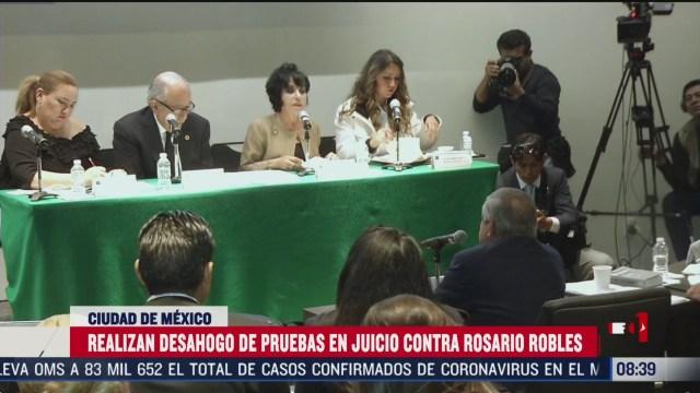 FOTO: 29 febrero 2020, realizan desahogo de pruebas en juicio contra rosario robles