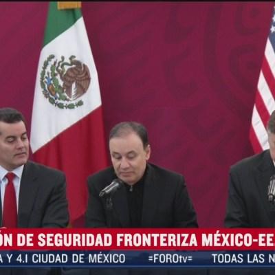 Realizan reunión de seguridad entre México y Estados Unidos