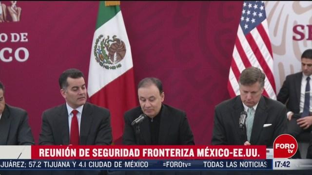 FOTO: realizan reunion de seguridad entre mexico y estados unidos
